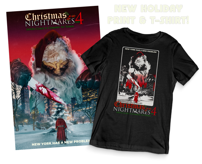 Christmas Horror Movie Shirt and Poster